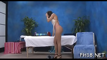 This sexy 18 year old hot girl gets drilled hard doggystyle by her massage therapist