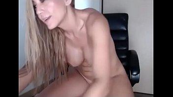 Horny slut fucks dildo and squirt