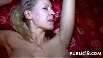Public blowjob and hard sex