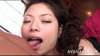 adorable japanese gf slow oral job and facial cumshot