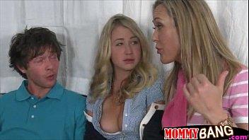 Milf Brandi Love and teen Casi James threesome sex