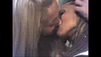 supah-shagging-hot lezzies smooching in public four
