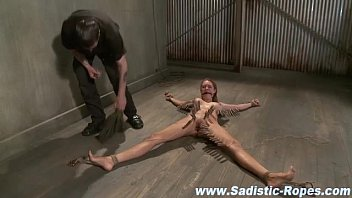Bdsm fetish slut tied and teased