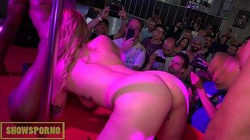 Pornstars interracial threesome public