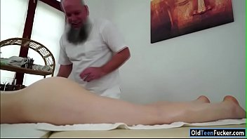 czech tera fasten frigged by older masseuse and.