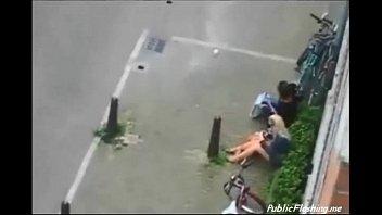 Extreme public sex in the street daytime voyeur video PublicFlashing.me
