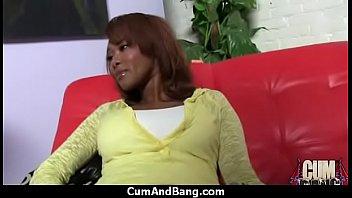 Ebony slut group fucked and facialized 18