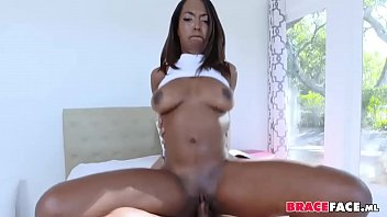 Braceface Black Girlfriend Cum In Mouth