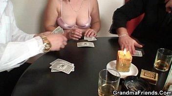 grandma loses in disrobe poker