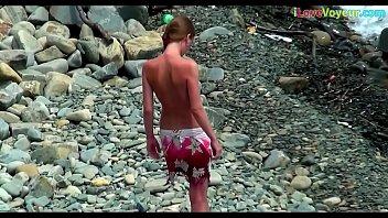 Voyeur Nude Beach Skinny Amateur Teen Video