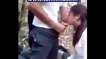 Indian School Girl Eating Co Student Cock Cum in Outdoor