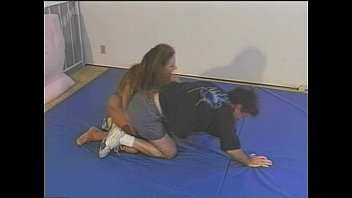 Mixed Wrestling with Fitness Model Charlene Rink part 2