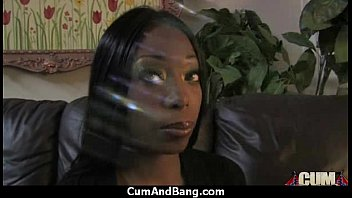 Ebony slut group fucked and facialized 10