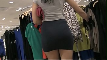 lycra skirt sexy nice ass stuck 720p