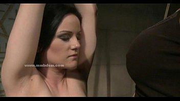 Sweet lady in lesbian bondage sex