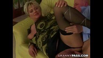 grandfather smashes plump grandma coochie