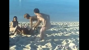 Miniature babe banged in erotic fuck session by the sea