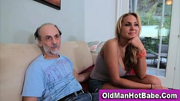 Old man and younger teen big tits