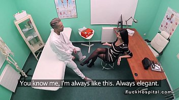 therapist humps patient in tights