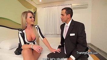 Red lingerie tranny fucks for cash