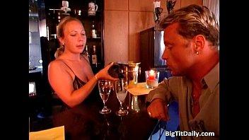 Hot blonde MILF slut sucking big cock