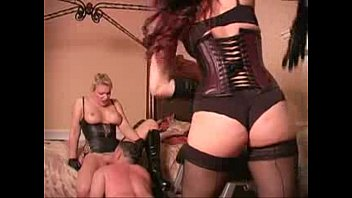 Whipped while licking mistress pussy - Femdom Tube