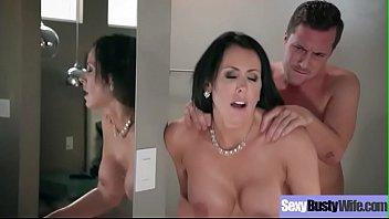 Hardcore Sex Tape With Slut Big Melon Boobs Housewife (Reagan Foxx) video-24