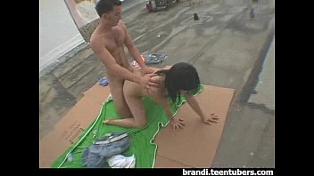 teenager duo caught tearing up on the roof top