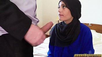 mind-blowing teenie arab refugee drills in a motel.