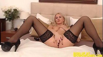 sexy blonde Romanian girl strips and masturbates on cam! wowowcams.com