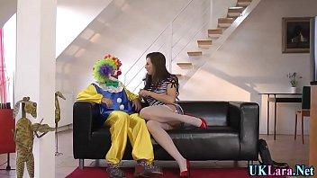 Stockings brit clown cum