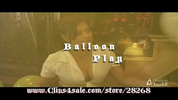 anita mann deep-throating up and gargling balloons in.
