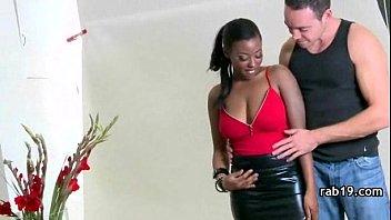 Breathtaking ebony shakes her BIG black booty