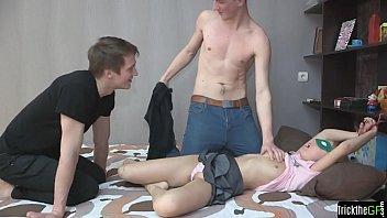 Bound teen cheating on her boyfriend