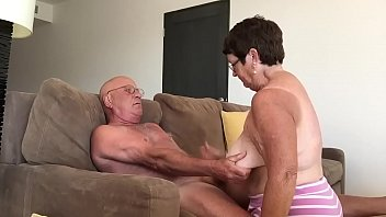 granny providing a oral job in.