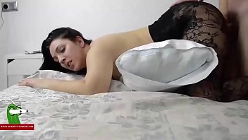 Embedding the brunette with sexy black lingerie ADR0351