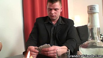 grannie plays de-robe poker then gets.