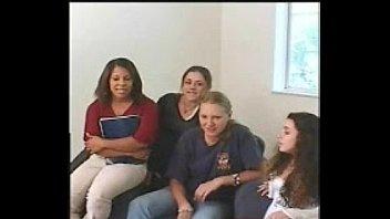 four women witnessing fellow wank off.
