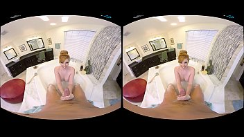 Naughty America VR - Rub n tug massage with a big tits redhead!