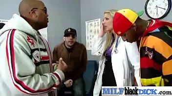 Jordan Kingsley sexy milf doctor love to suck black cock